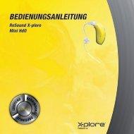 Xplore XE61 Benutzerhandbuch - GN ReSound GmbH