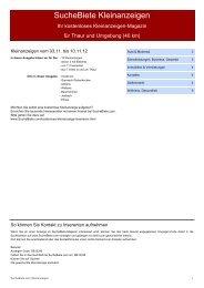 SucheBiete Kleinanzeigenzeitung Thaur - Kostenlose Kleinanzeigen