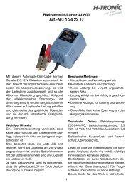 Bleibatterie-Lader AL600 Art.-Nr.: 1 24 22 17