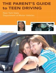 THE PARENT'S GUIDE to TEEN DRIVING - DMV - New York State