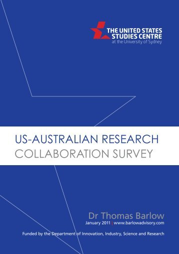 us-australian research collaboration survey - United States Studies ...