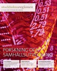 Stockholmsregionen 4-2011 - SLL Tillväxt, miljö och ...