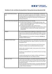 Richtlinien für die schriftliche berufspraktische Arbeit - HMS ...