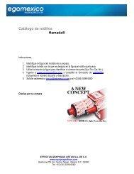 Catálogo de rodillos Hamada - Egomexico