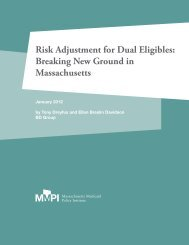 Risk Adjustment for Dual Eligibles - State Coverage Initiatives