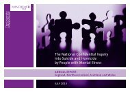 The National Confidential Inquiry into Suicide and Homicide by ...