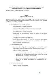 Entwurf eines Gesetzes zur Stärkung der Innenentwicklung in den ...