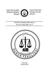 Gazi University Faculty of Law Review Gazi Üniversitesi Hukuk ...