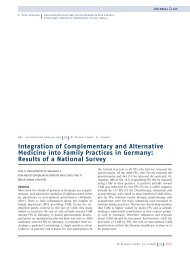 Integration of Complementary and Alternative Medicine into Family ...