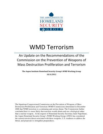WMD Terrorism - The House Committee on Homeland Security