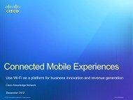 Presenters - Cisco Knowledge Network
