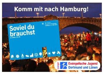 Postkarte DEKT 2013 - Evangelische Jugend Dortmund und Lünen