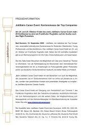 Karrieremesse der Top Companies - JobStairs