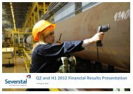 Q2 and H1 2012 Financial Results Presentation - Severstal