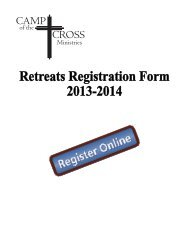 Registration Form for 2013/2014 Retreats - Camp of the Cross ...