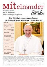 Die Welt hat einen neuen Papst, die Sales-Pfarren ... - Pfarre Glanzing