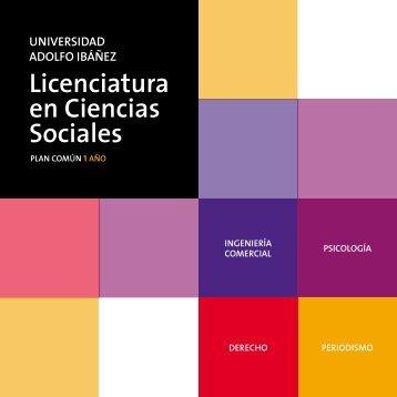 Licenciatura en Ciencias Sociales - Universidad Adolfo Ibañez