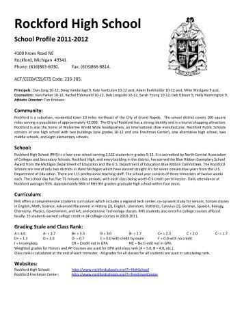 Rockford High School - Rockford Public Schools