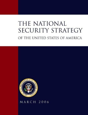 The National Security Strategy-- 2006 - MERLN