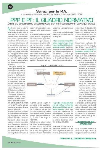 PPP e PF: il quadro normativo - Guida alla cooperazione ... - UTFP