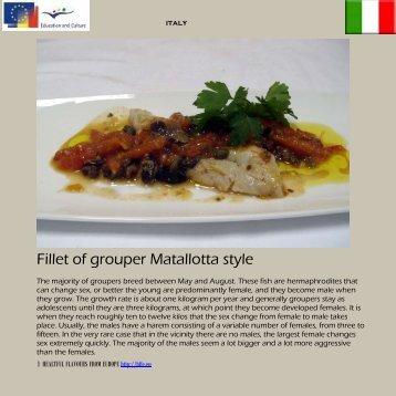 Fillet of grouper Matallotta style