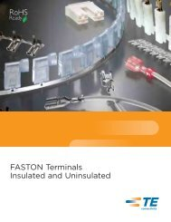 FASTON Terminals Insulated and Uninsulated - TE Connectivity