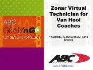 Zonar Virtual Technician for Van Hool Coaches - ABC Companies