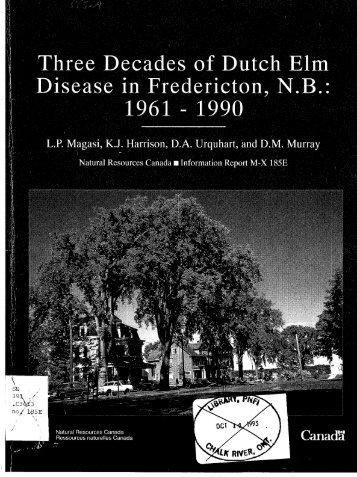 Three Decades of Dutch Elm Disease in Fredericton, N.B. ... - NFIS