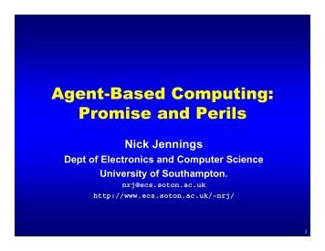 Agent-Based Computing - Electronics and Computer Science ...