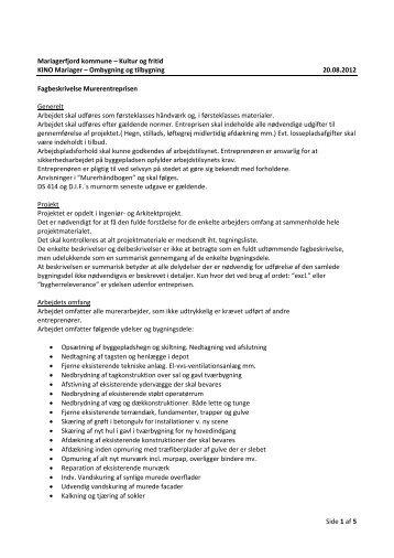 03 KINO Mariager - Murerbeskrivelse.pdf - Hosted Disk/FTP