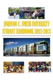 2012-2013 Student Handbook.pdf - Johnson C. Smith University