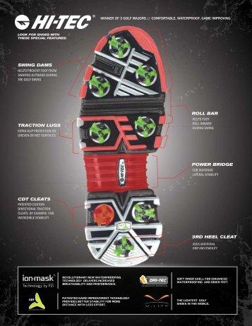 Hi-Tec Golf Shoes Brochure
