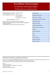 SucheBiete Kleinanzeigen-Magazin Remscheid - Kostenlose ...