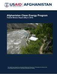 ACEP Thawak MHP Mission Report (May 2010) - Afghan