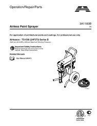 3A1183B - Airless Paint Sprayer, Operation/Repair/Parts ... - Airlessco