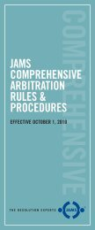JAMS COMPREHENSIVE ARBITRATION RULES & PROCEDURES