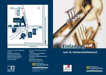 Einladung zum 18. Partnerschaftskonzert - Rohrbach