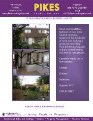 Much improved three bedroom terrace home situated in ... - Pikes