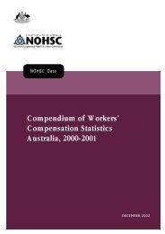 Compendium of Workers' Compensation Statistics 2000 - 2001