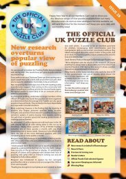 New research overturns popular view of puzzling - Jigsaw Puzzles