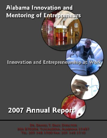 2007 Annual Report - AIME - The University of Alabama