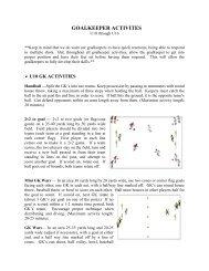 Goalkeeper Coaching Manual