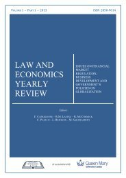 LAW AND ECONOMICS YEARLY REVIEW - Centre for Commercial ...