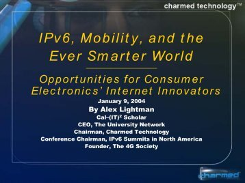 Form, Function, and Profit: Design for Humankind ... - IPv6 Summit, Inc.