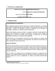 (Créditos) SATCA Habilidades Directivas I. - Instituto Tecnólogico de ...