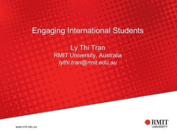 International student engagement - ACER