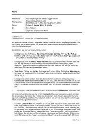 40 Jahre Frauenstimmrecht - Kanton Bern
