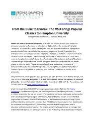 The VSO Brings Popular Classics to Hampton University - Virginia ...