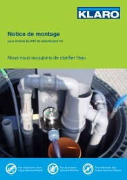 Notice de montage - KLARO GmbH