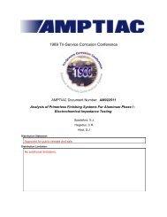 Analysis of Primerless Finishing Systems For Aluminum ... - NAMIS